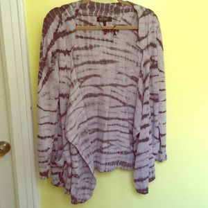 Light Grayish/ Black Tie Dye Sweater